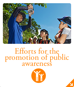 Efforts for the promotion of public awareness